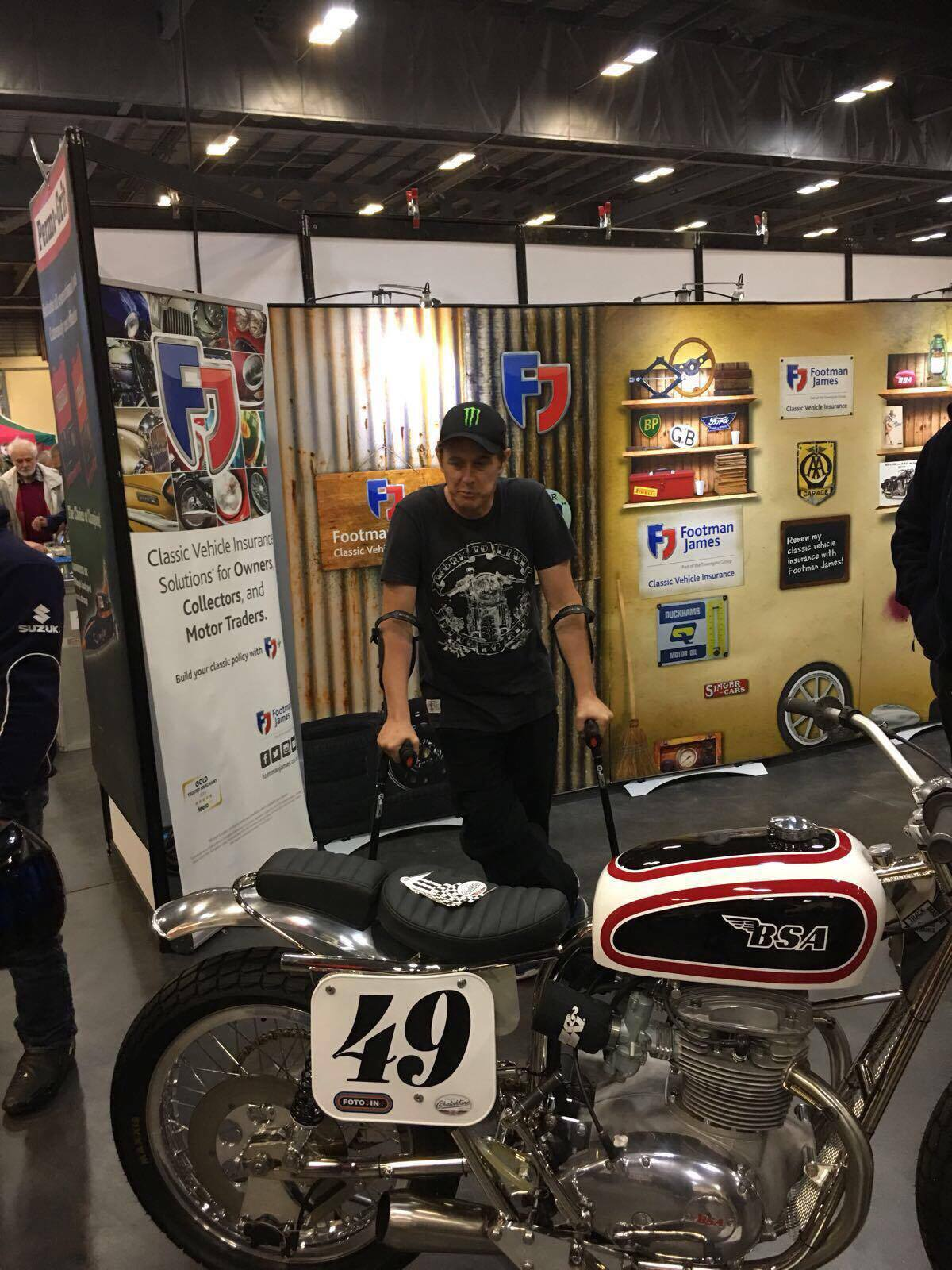 John McGuinness at Classic Bike Live