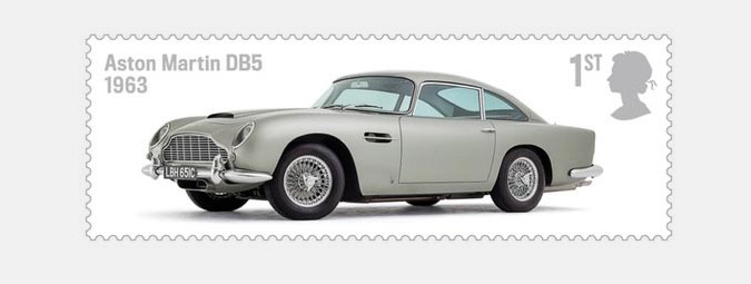 Aston Martin DB5 1963 Royal Mail Stamp