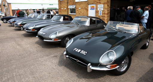 CMC with a line-up of classic E-Type Jags