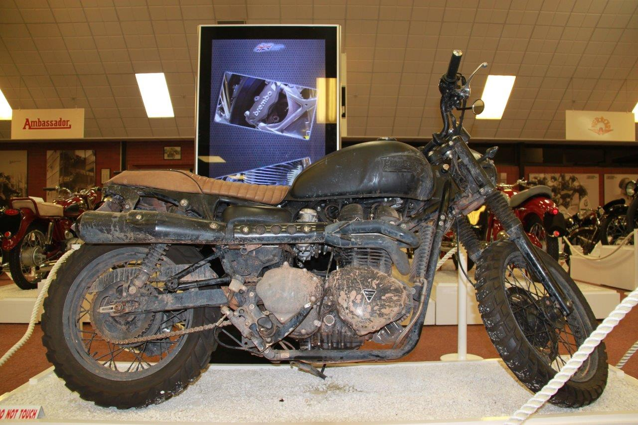 At Beck and call: Bike connoisseurs will be able to see David Beckham's Triumph Bonneville