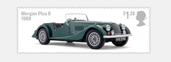 Morgan Plus 8 Royal Mail Stamp