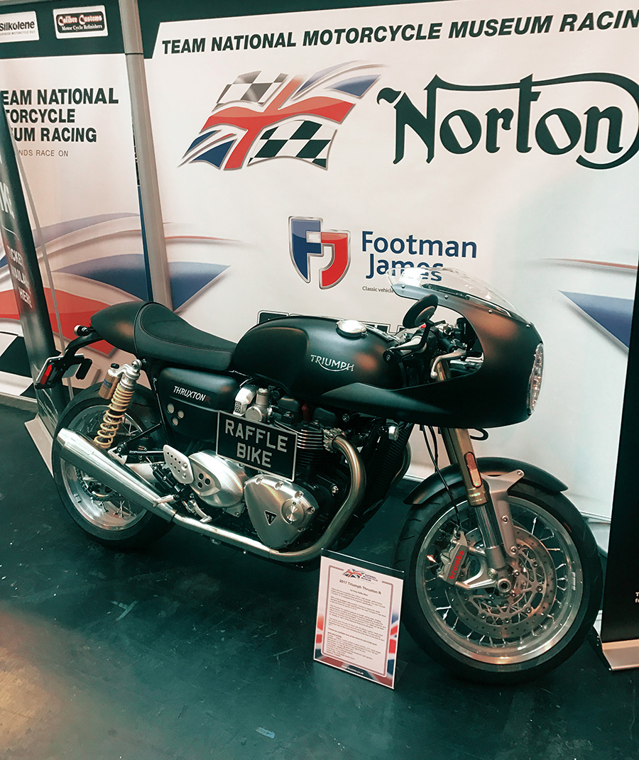 National Motorcycle museum stand