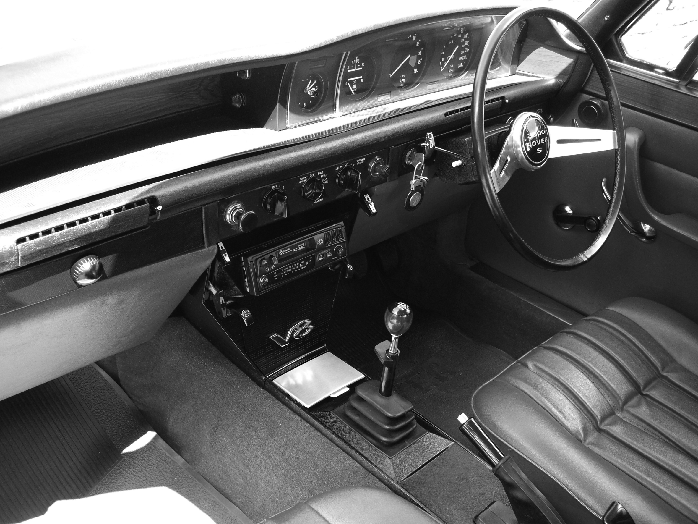 Interior of a Rover P6