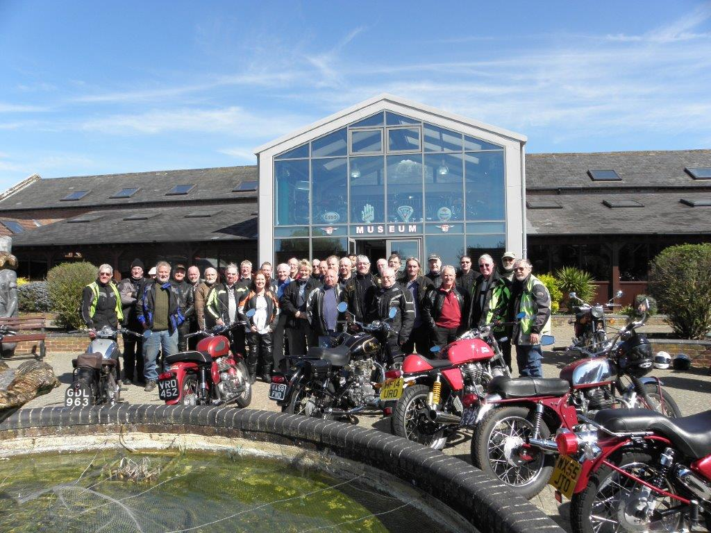The Royal Enfield Ride at the Sammy Miller Museum in April 2015