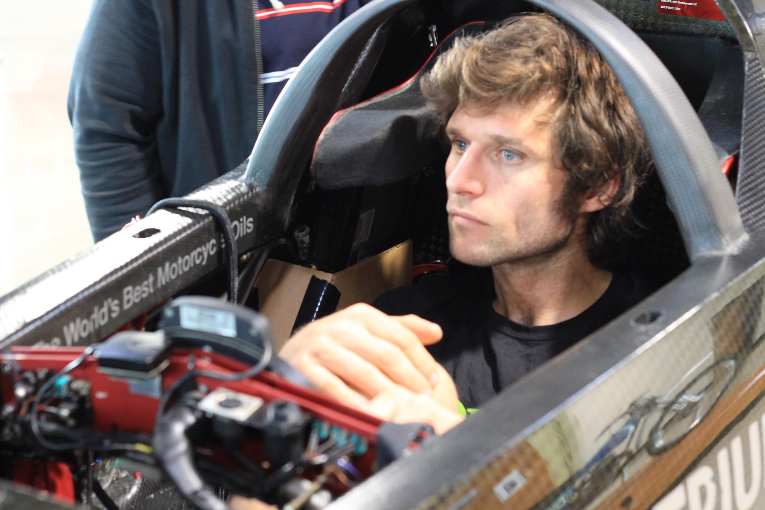 Guy Martin in Triumph Motorcycle land speed record attempt