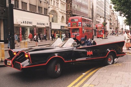 The Batmobile is put through its paces