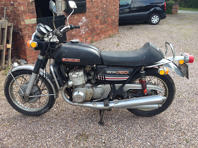 Mr Parker's Suzuki GT750J Kettle sold for £3,794 more than his initial investment