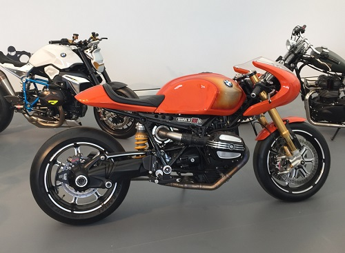 Orange BMW Motorcycle