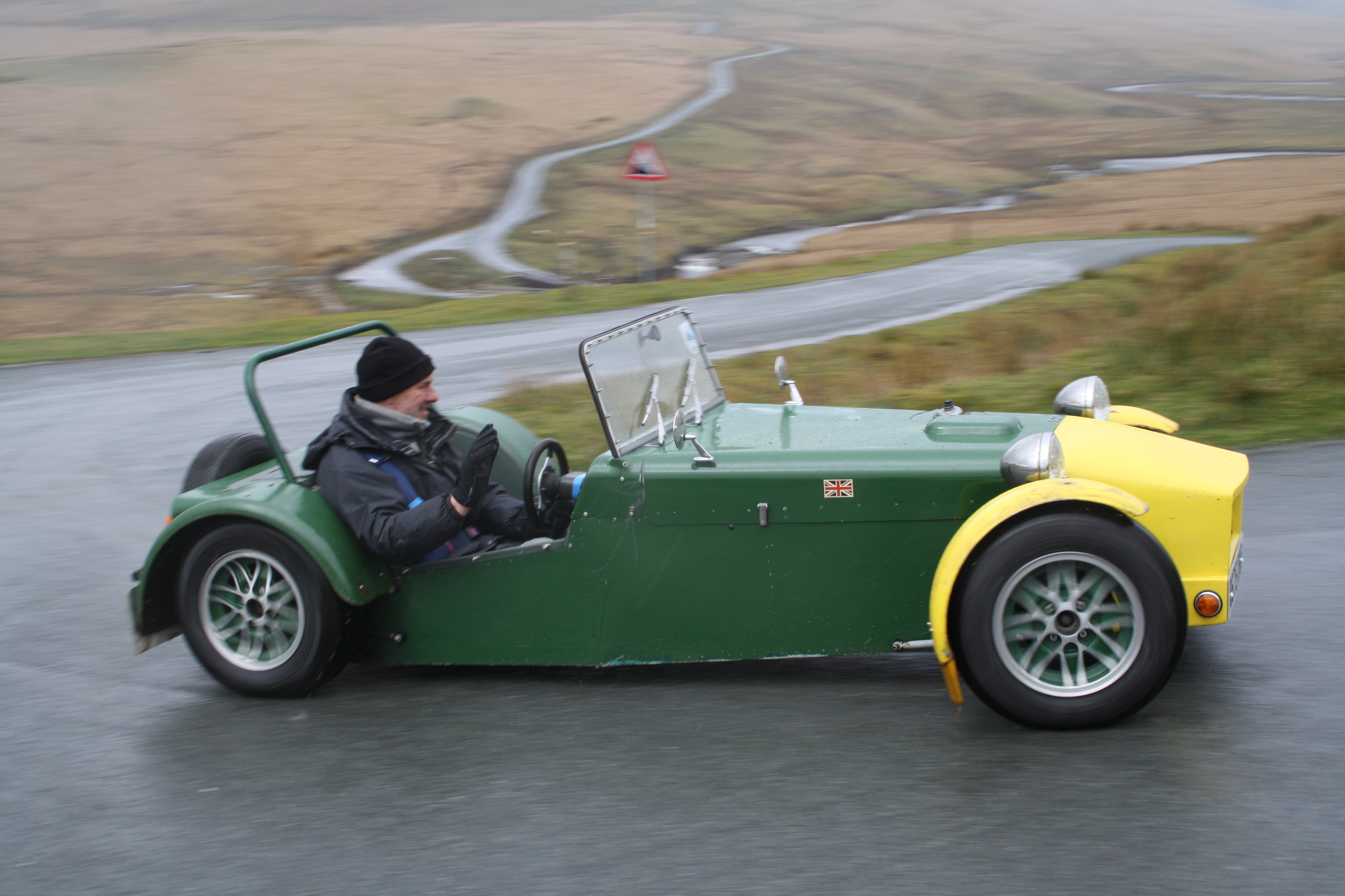 Kit car on a scenic drive