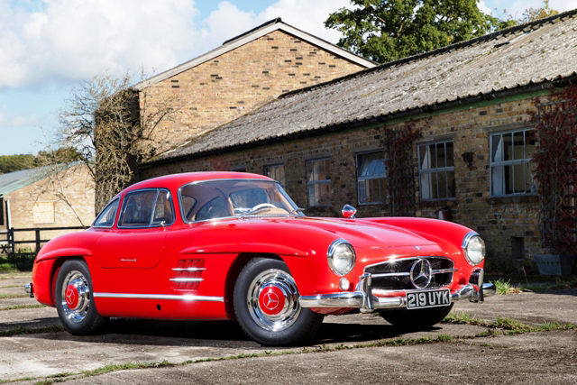 Red Mercedes 300 SL