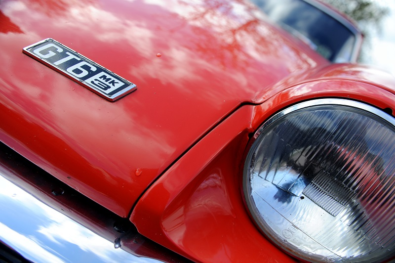 Closeup of Triumph Spitfire GT6