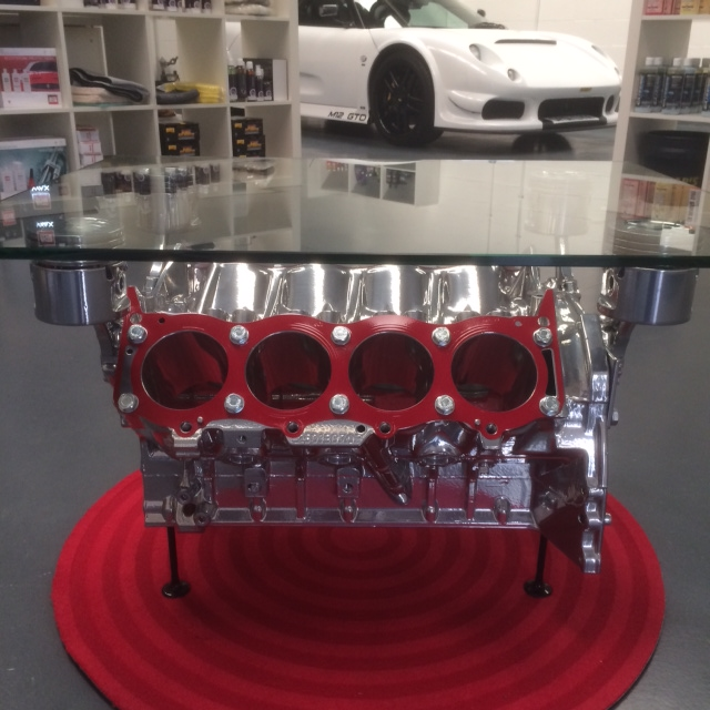 Red V8 Coffee Table