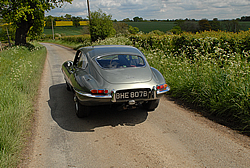 Jaguar E-Type rear view