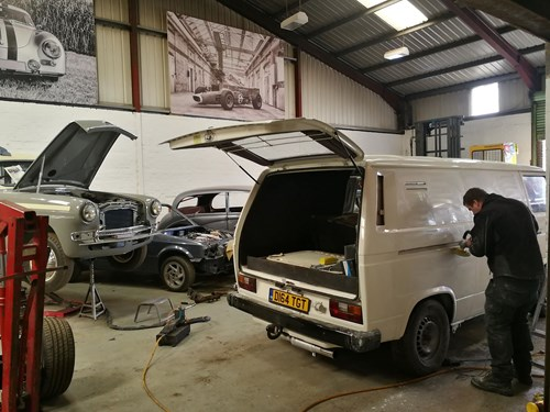 Our VW T25 being restored