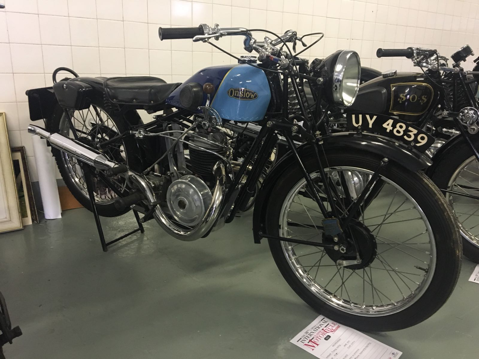 1927 SOS 250cc used by Len Vale Onslow