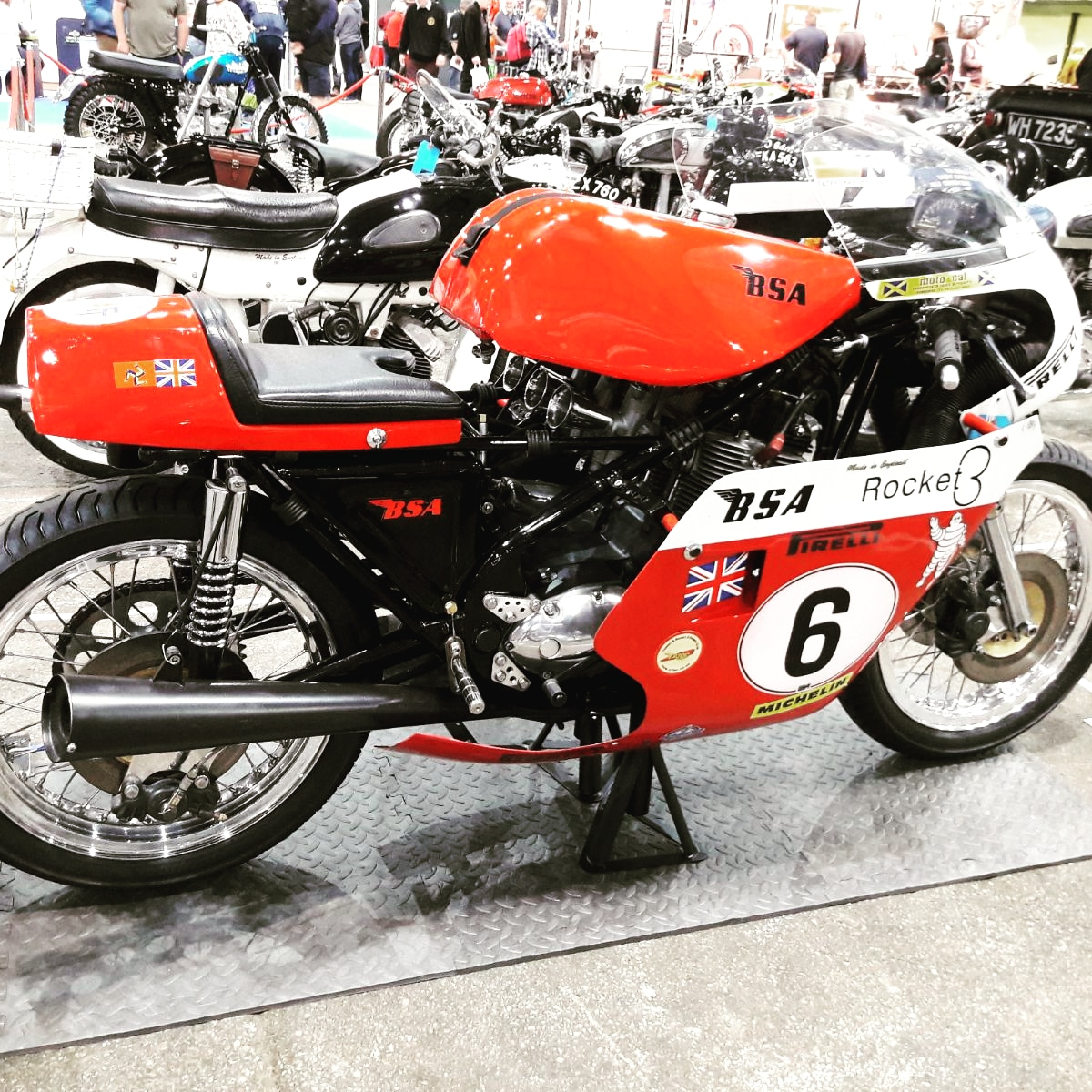 BSA 750cc Rocket III Rob North racing motorcycle