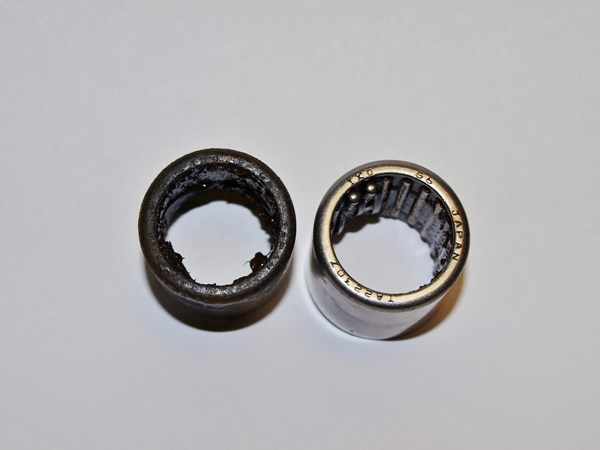 Bearings sitting on white piece of paper