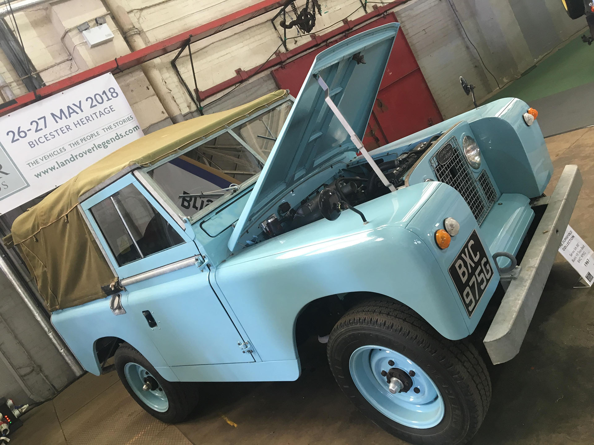Powder blue Land Rover