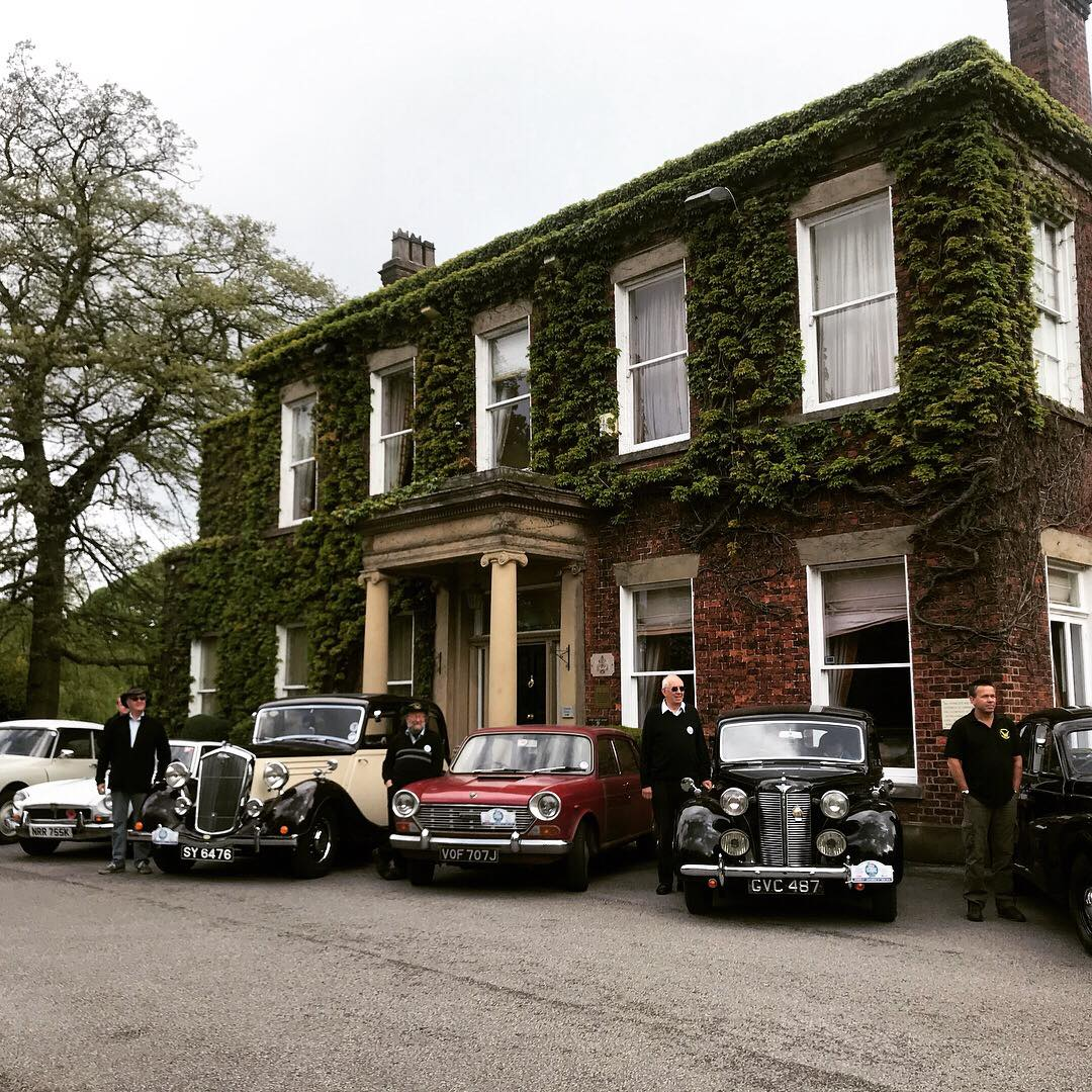 Lined up outside Charingworth Manor Hotel