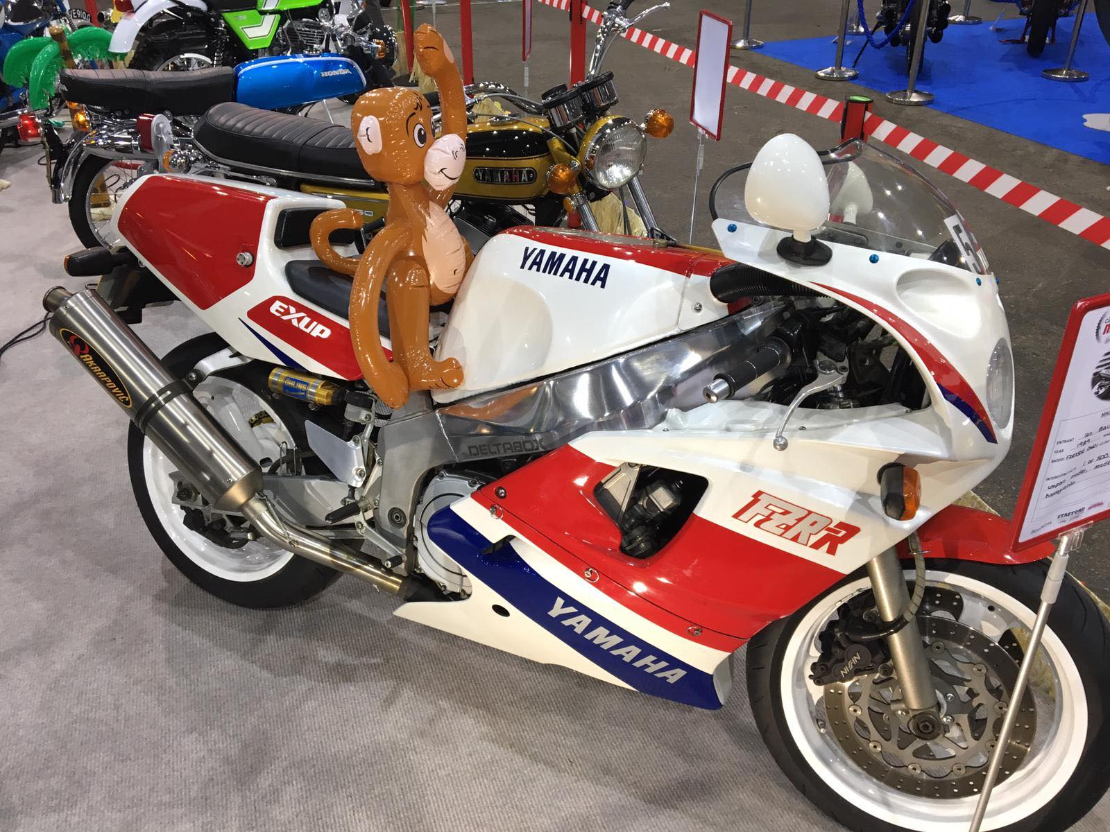 Yamaha driven by a monkey!