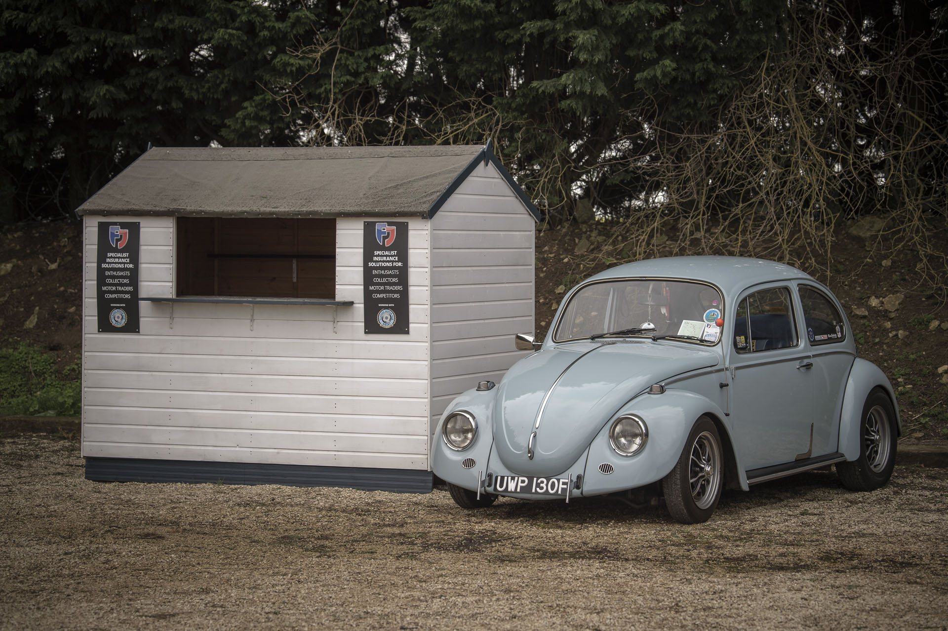 Classic Volkswagen with Footman James hut