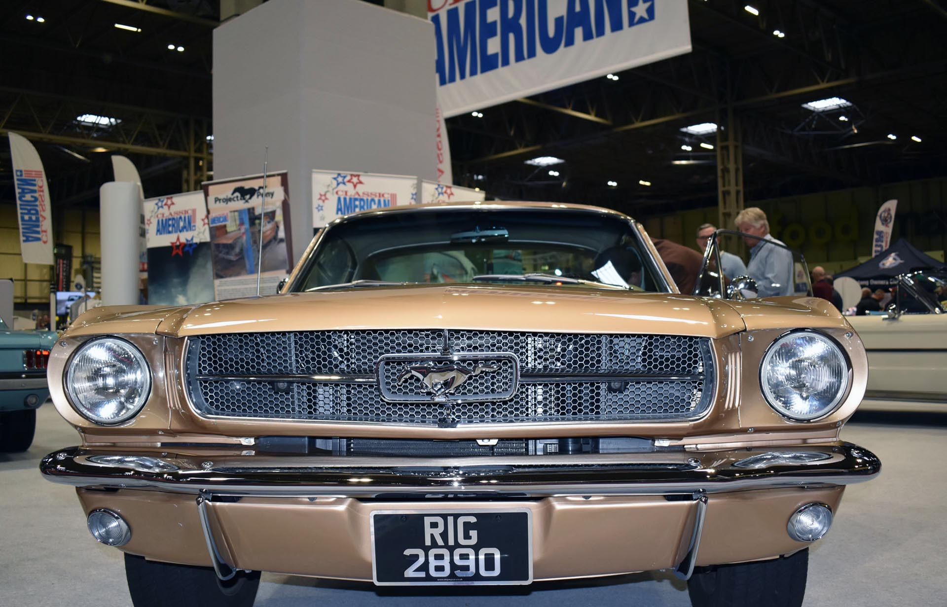 1965 Gold Ford Mustang