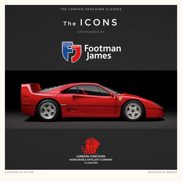 The Icons class at London Concours