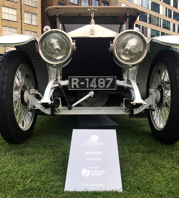 Winner of the Icons Class - Rolls-Royce Silver Ghost