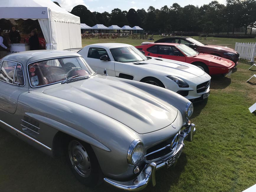Line-Up of Cars on Display