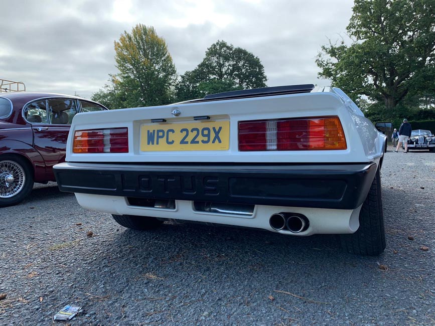 Back of 1982 Lotus Turbo Esprit