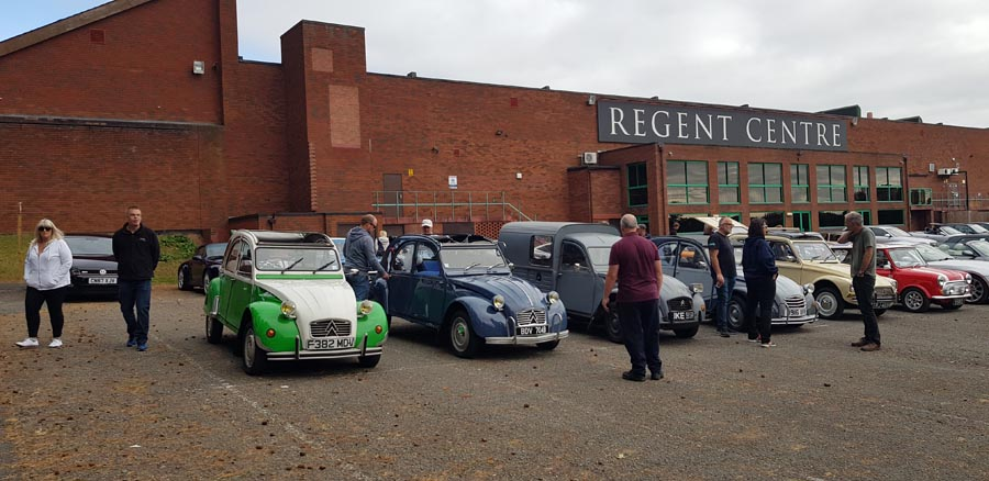 Citroen 2CV heads the lineup
