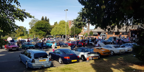 A wide variety of cars attended