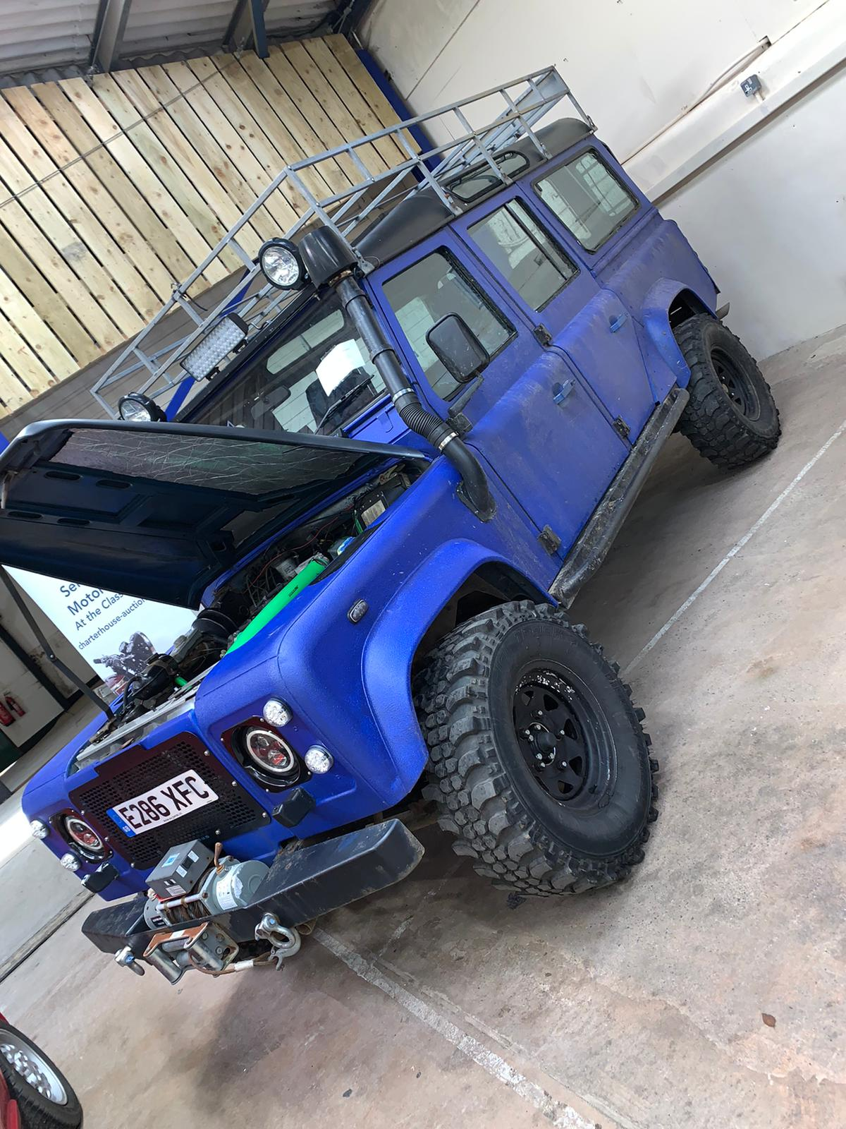 1988 Blue Land Rover