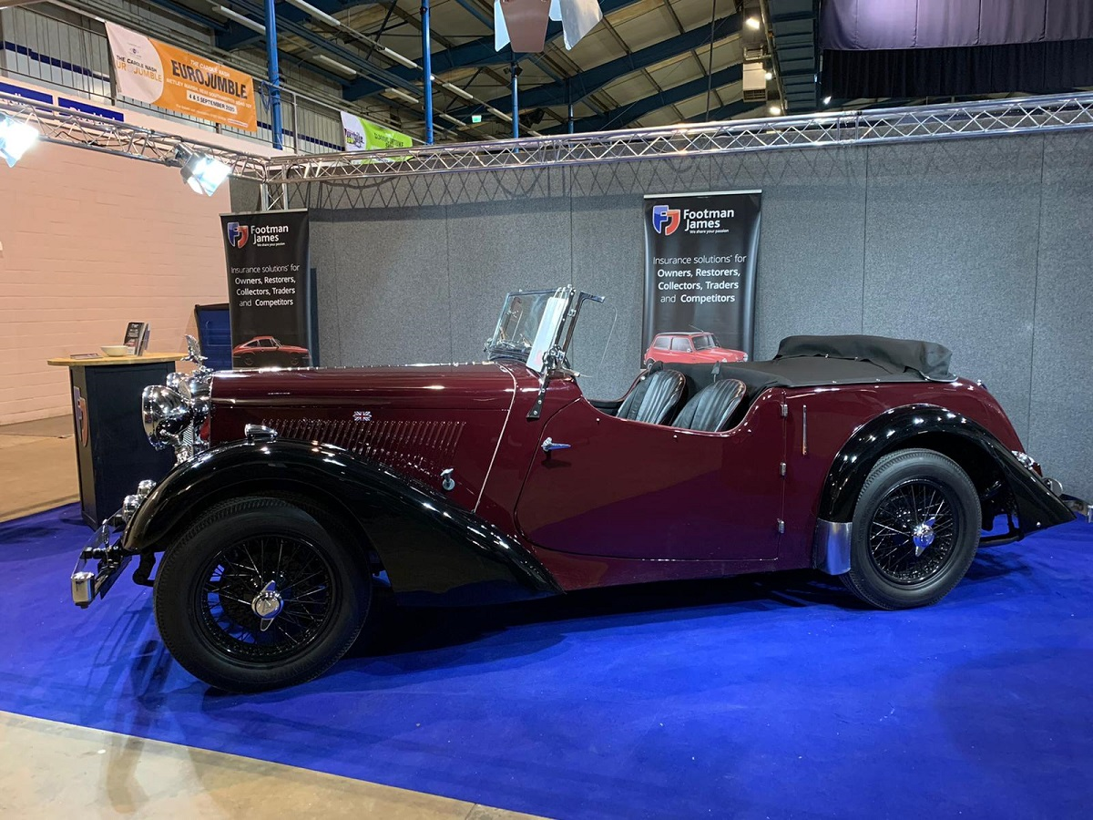 Side view of the 1938 Alvis 12/70 Anderson Tourer