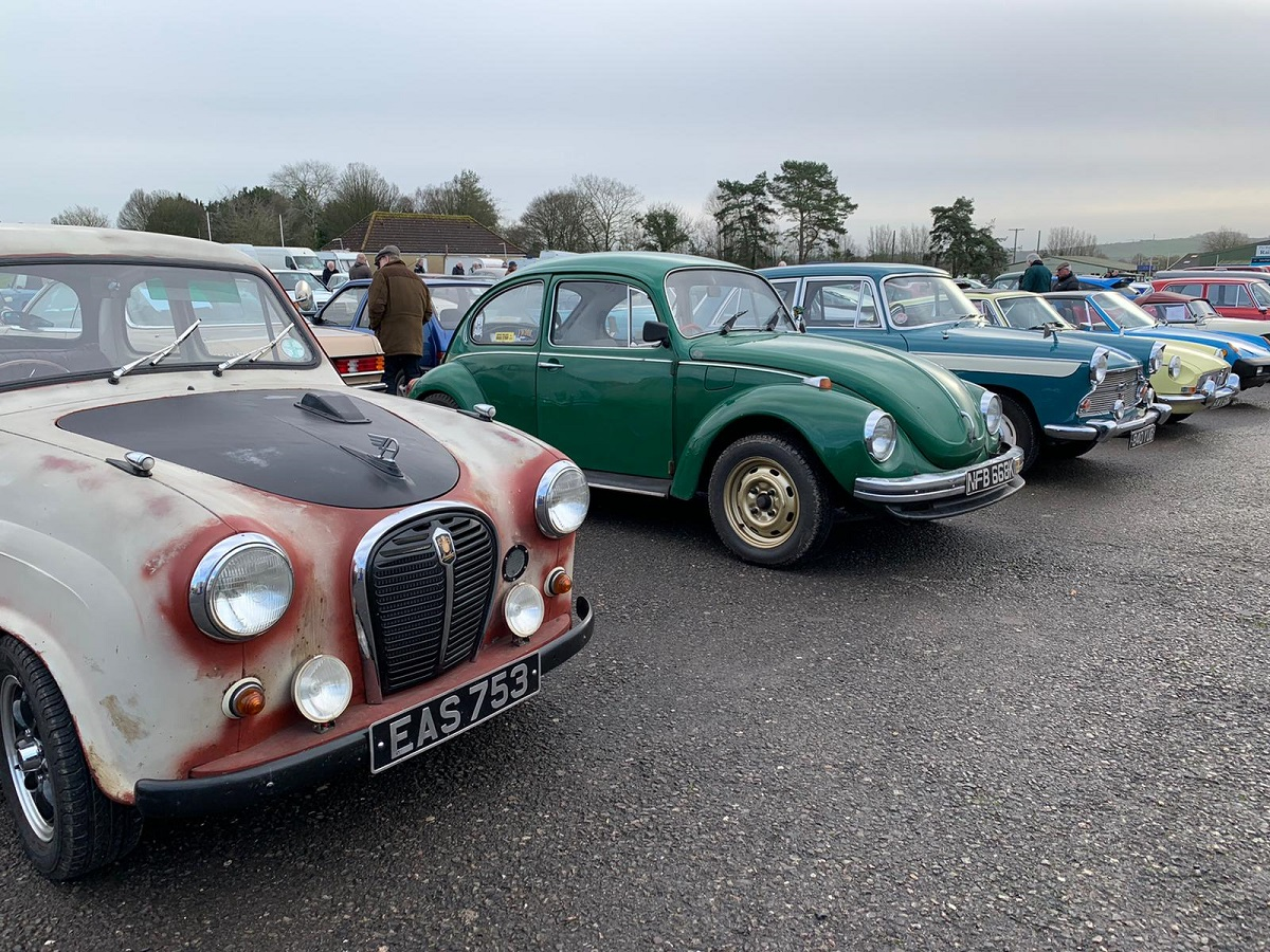 Colourful classics on a grey day