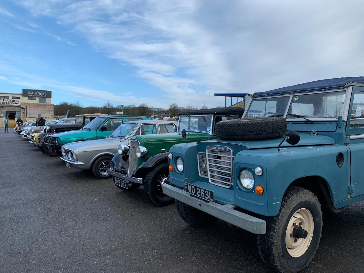 An eclectic mix in the classic car park