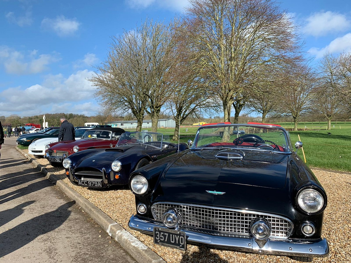 Beautiful classic cars against a beautiful sky